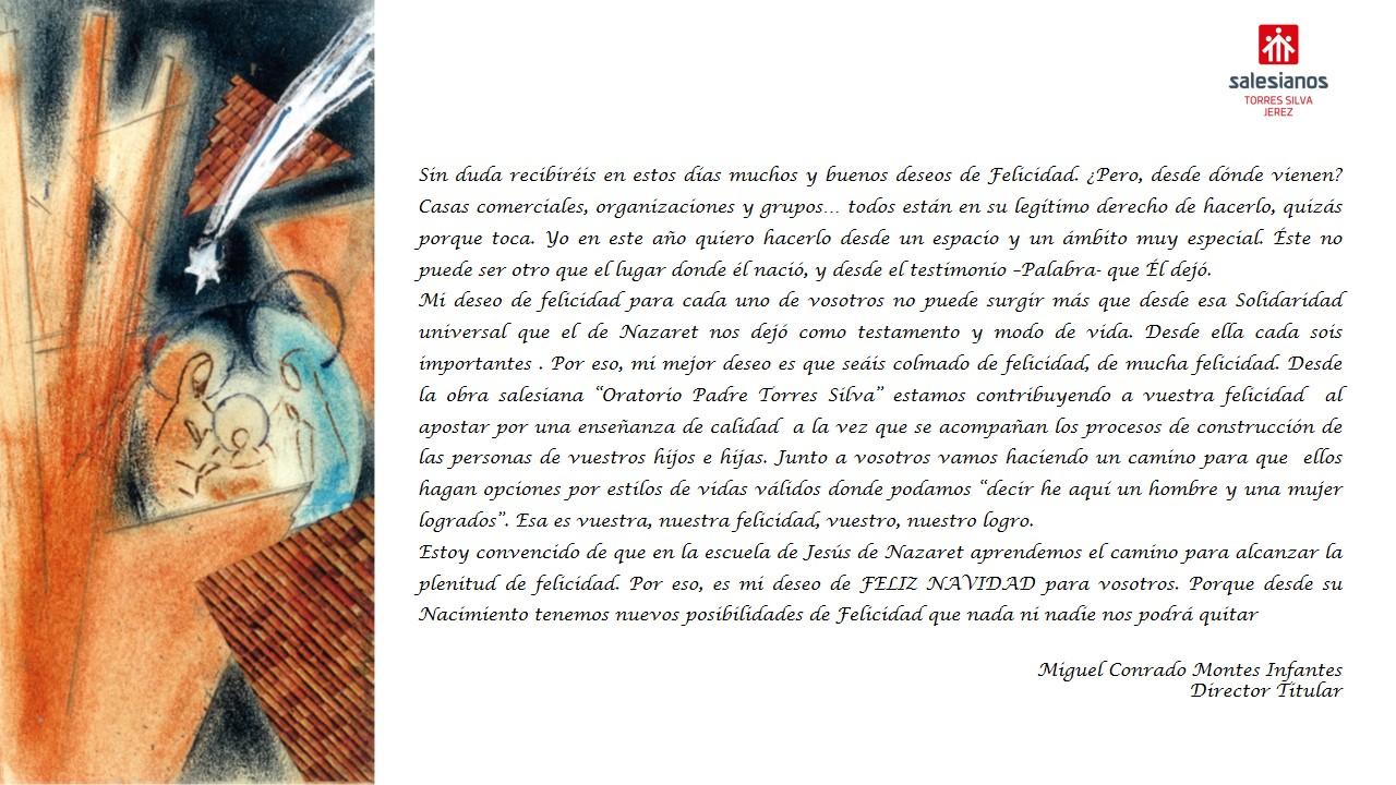 FELICITACIÓN DE NAVIDAD DEL DIRECTOR TITULAR DE LA OBRA